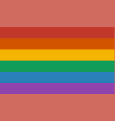 Lgbt rainbow flag vector