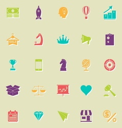 Marketing strategy flat icons with shadow vector image