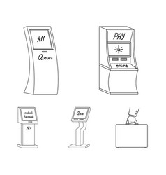 Medical terminal atm for paymentapparatus for vector