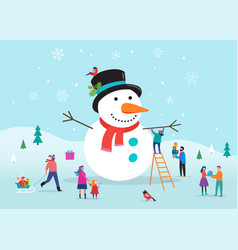 merry christmas card background bannner with a vector image