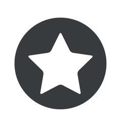Monochrome round star icon vector image