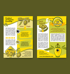 olive oil product and olives posters set vector image