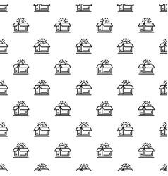 open brand box pattern seamless vector image