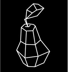 Pea polygonal design vector
