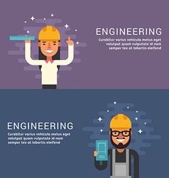 People Profession Concept Engineering Male and vector