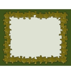 Picture frame of puzzles vector image