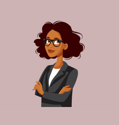 Professional portrait a strong business woman vector