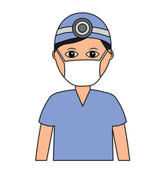 Professional surgeon medical uniform clothes vector