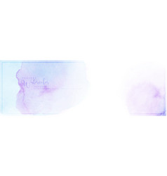 purple mixed blue stains watercolor trendy banner vector image