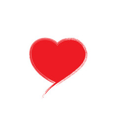 red heart icon on white vector image