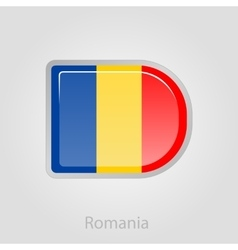 Romanian flag button vector image