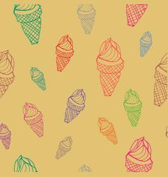 Seamless pattern ice cream vector