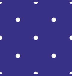 seamless pattern polka dots on blue backgroun vector image
