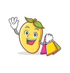 shopping mango character cartoon mascot vector image