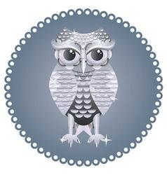 Silver Owl vector image