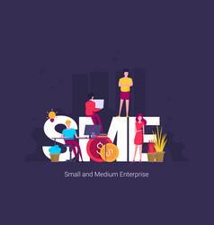 Sme small and medium enterprise concept vector