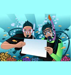 Snorkeling poster vector