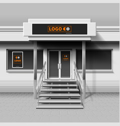 Store exterior facade for branding design and vector