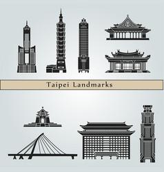 Taipei landmarks vector