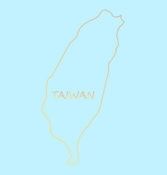 Taiwan map with shadow effect vector