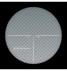 target sight sniper symbol isolated on a vector image