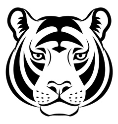 Tiger face symbol vector