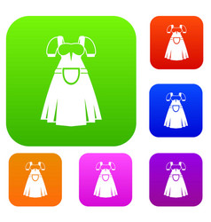traditional bavarian dress set collection vector image