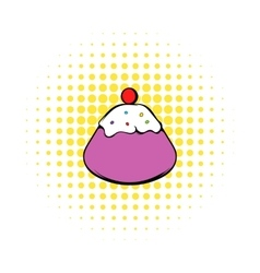 Traditional Easter cake icon comics style vector