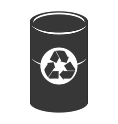 trash can recycling icon graphic vector image