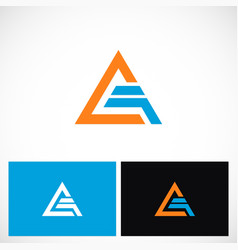 triangle shape pyramid technology logo vector image