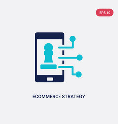 Two color ecommerce strategy icon from general-1 vector