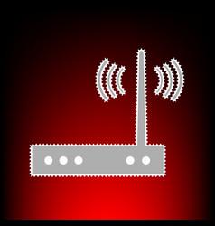 wifi modem style vector image