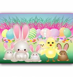 easter babies vector image
