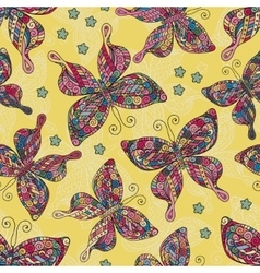 Fashion Butterflies pattern Colorful objects on vector image vector image