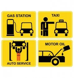 auto service signs vector image vector image