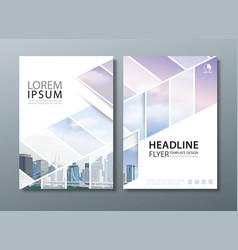 black blue annual report brochure flyer design vector image