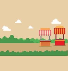 street stall design landscape background vector image