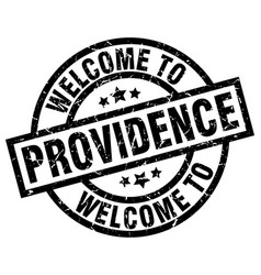 welcome to providence black stamp vector image vector image
