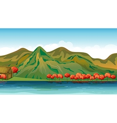 A river and a house vector image