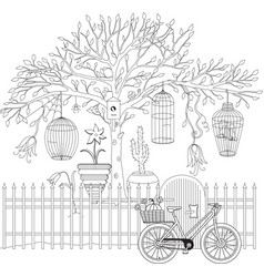 coloring book for adult and older children vector image
