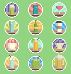 Drink Menu Flat Icon vector image