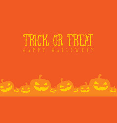 Halloween pumpkin with orange background vector