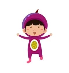 Kid In Fruit Costume vector image