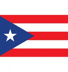Puerto rice flag vector image vector image