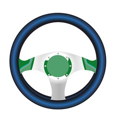 Realistic steering wheel in on white background vector image