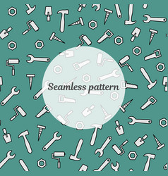 seamless pattern blue color with tools for repair vector image vector image