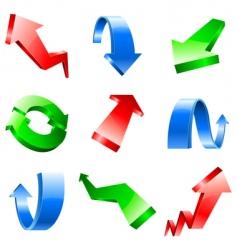 three-dimensional arrows vector image