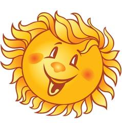 cartoon smiling sun vector image vector image