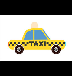 yellow taxi cab icon vector image vector image