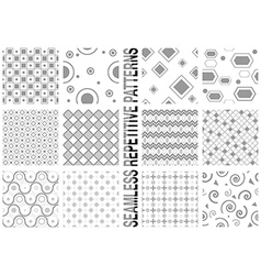 12 seamless patterns vector image